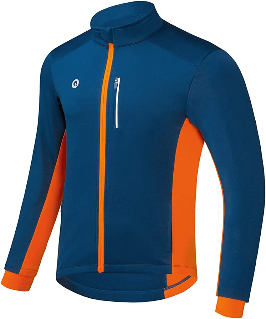 Przewalski Cycling Bike Jackets for Men Winter Thermal Running Jacket Windproof Breathable Reflective Softshell Windbreaker : Clothing