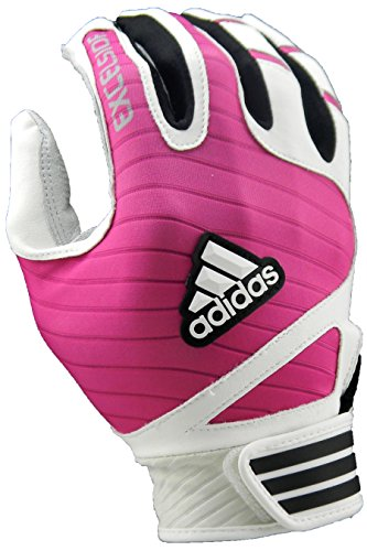 adidas Excelsior Batting Gloves (Pair), White/Pink, Large