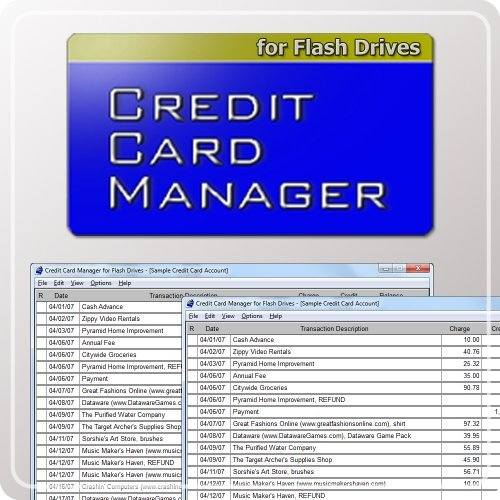 Credit Card Manager for Flash Drives [Download] by Dataware