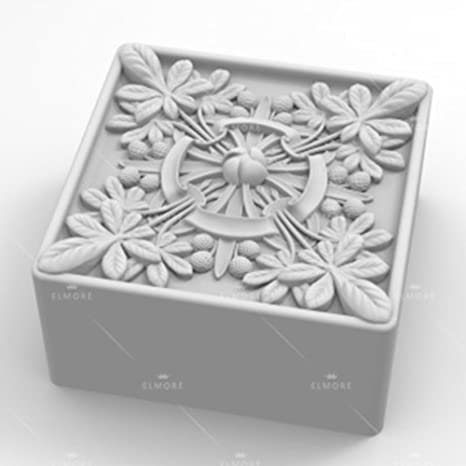 grainrain jabón molde de silicona Craft de flores cuadradas de jabón molde para hacer vela DIY