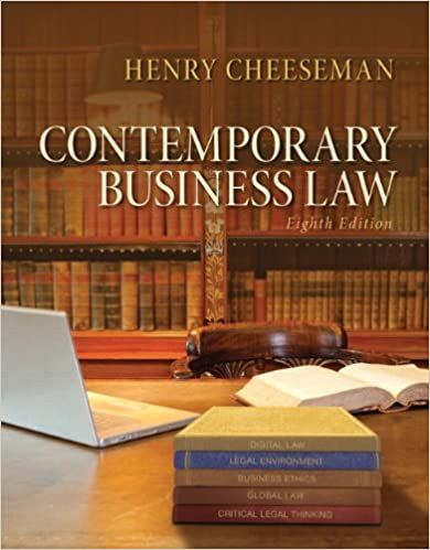 Contemporary business law 8th edition henry r cheeseman contemporary business law 8th edition henry r cheeseman 9780133578164 amazon books fandeluxe Choice Image