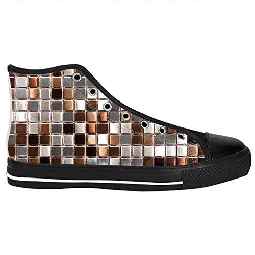 Dalliy Glas Mosaik Fliesen Textur Mens Canvas shoes Schuhe Lace-up High-top Sneakers Segeltuchschuhe Leinwand-Schuh-Turnschuhe D