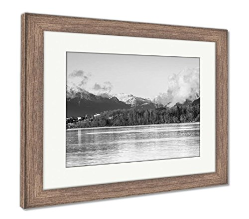Ashley Framed Prints Desert Country At South Mountain Park Outside Phoenix In Maricopa County, Wall Art Home Decoration, Black/White, 34x40 (frame size), Rustic Barn Wood Frame, (Clear Maple Framed Mirror)