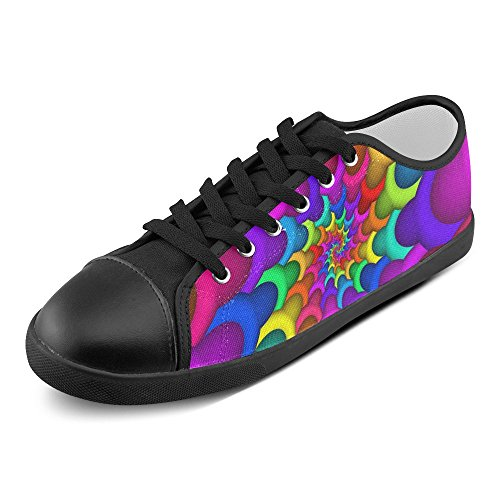 Artsadd Model016 Women Shoes Spiral Multi For Color1 Psychedelic Canvas Rainbow rqagr