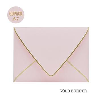 A7 Pink Envelopes 5 X 7