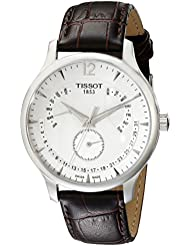Tissot Mens T0636371603700 Stainless Steel Watch With Brown Band