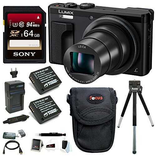 Panasonic Lumix DMC-ZS60 18MP 4K Digital Camera (Black) (Gold Bundle)