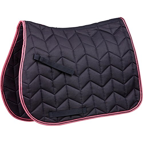 (Saxon Element Quilted AP Saddle Pad Full Navy/Pink)
