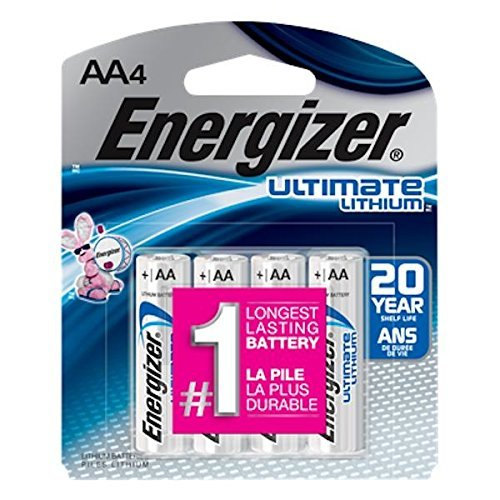Energizer Lithium Aa Photo - Energizer 03506 - AA 1.5 Volt Ultimate Lithium Battery (4 pack) (L91SBP-4 ULTIMATE LITHIUM 4PK)