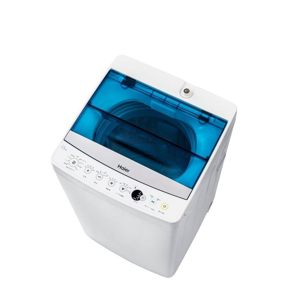 ハイアール 5.5kg 全自動洗濯機 ホワイトHaier JW-C55A-W