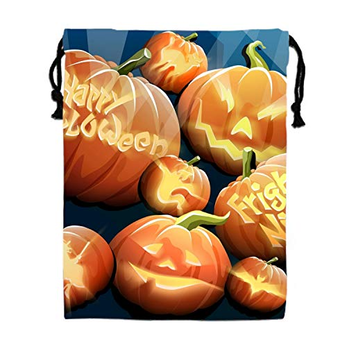 Halloween Pumpkin Drawstring Bag Multifunction Backpack School Shoulder