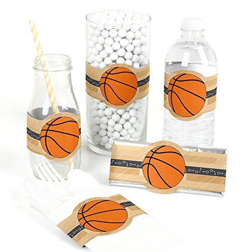 All Star Sports Table (Nothin' But Net - Basketball - DIY Party Supplies - Baby Shower or Birthday Party DIY Wrapper Favors & Decorations - Set of 15)