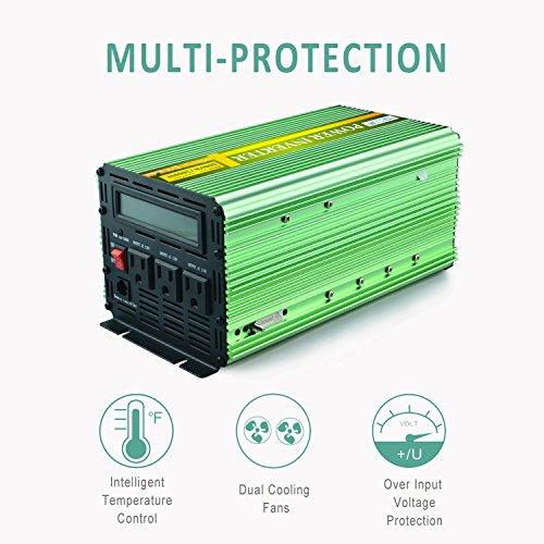 Bright 1200 Peak Sine Wave 12v Dc To 220v Ac Power Inverter Car Boat Camping Rr Erneuerbare Energie