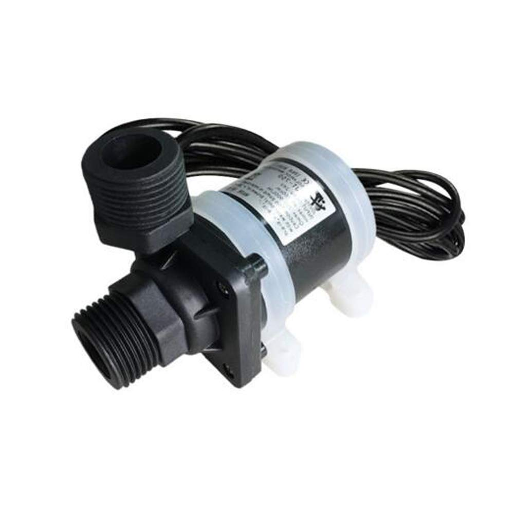 12V Threaded Port Solar Water Heater Shower Heating Booster Circulating DC Pump by Q-BAIHE