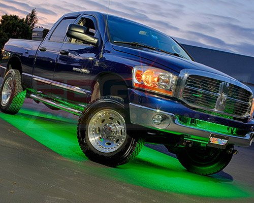 LEDGlow 6pc Million Color Wireless SMD LED Truck Underbody Underglow Light Kit - Includes Remote - Fits Crew Cab and Extended Cab Trucks