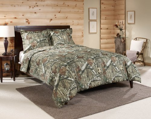 Mossy Oak Break-Up Infinity Mini Comforter Set, Queen - One mini set has (1) 86-inch by 90-inch Queen comforter and (2) 20-inch by 26-inch shams 60% cotton/40% polyester Machine Wash Cold and tumble dry low or line dry - comforter-sets, bedroom-sheets-comforters, bedroom - 51xzo0pCfqL -