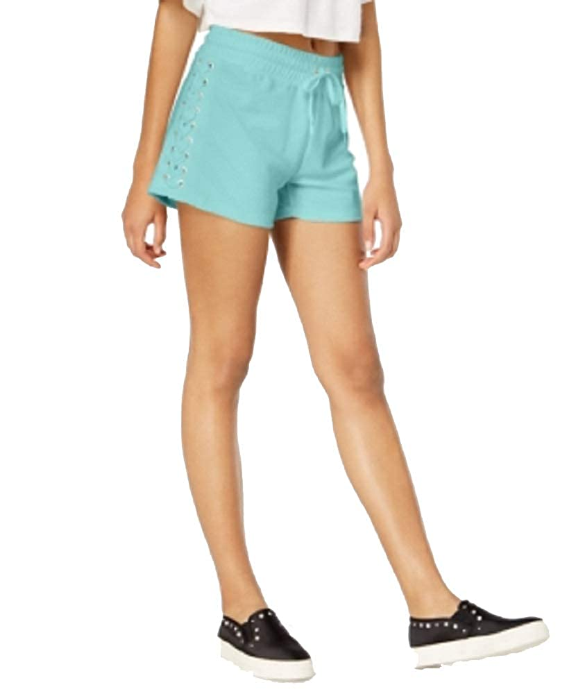 Material Girl Juniors Lace-Up Drawstring-Waist Shorts