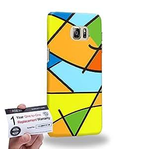 Case88 [Samsung Galaxy S6 Edge Plus] 3D impresa Carcasa/Funda dura para & Tarjeta de garantía - Art Fashion Patched Up Pattern A