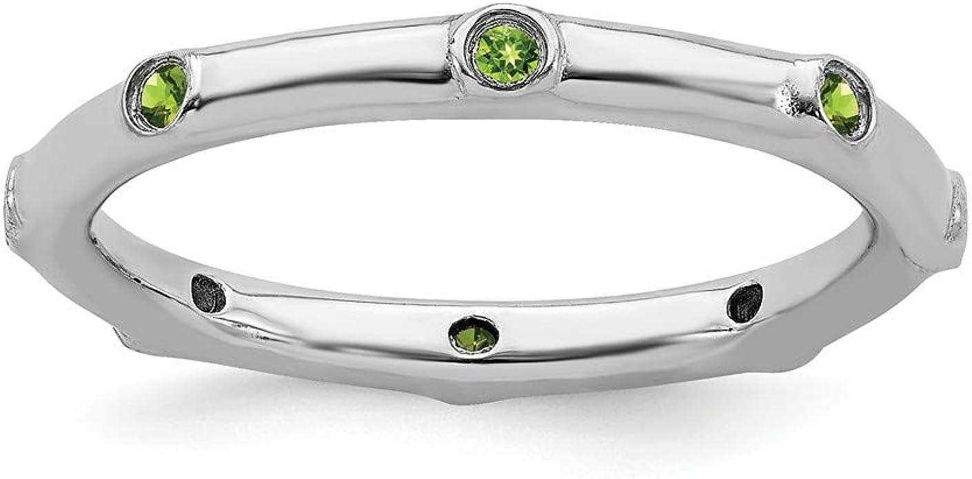 Green Peridot  Ring Set-Stacking Ring Set-2 Ring Set,Sterling Silver Hammered Stacking With band Ring-Peridot Ring set#PRT