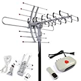 Safstar 360 Rotor Digital Remote Controlled HDTV 1080P Outdoor TV Amplified Antenna for Home Office Outdoor Television