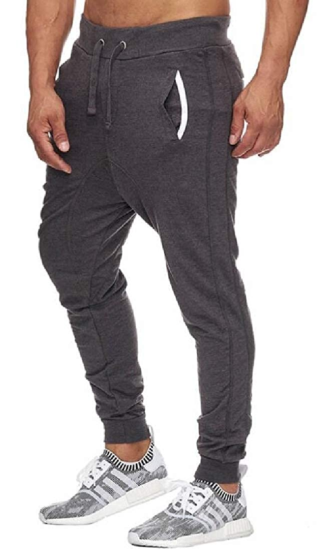 YYG Mens Elastic Waisted Casual Active Sweatpants Drawstring Jogging Pants Trousers