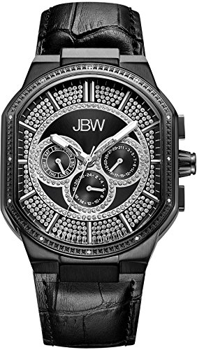 JBW Men's J6342D Orion 0.12 ctw Black Ion-Plated Stainless Steel Diamond Watch