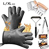Markmesafe Silicone BBQ Gloves/Cooking Gloves Grilling Tool Accessories Set 6 Pcs