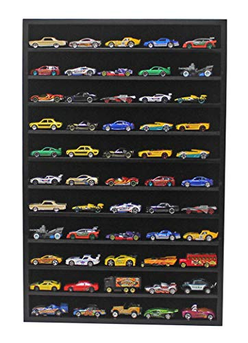 (Hot Wheels Matchbox 1/64 Scale Model Cars Display Case Cabinet - NO Door (Black))