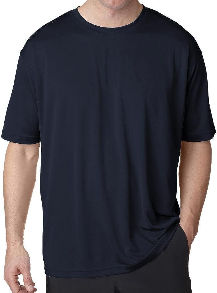UltraClub Big Men's Cool-n-Dry Performance T-Shirt at  Men's Clothing store