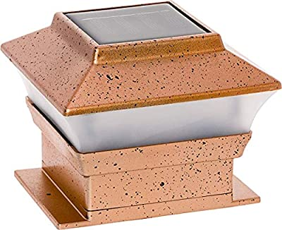 RELIGHTABLE Solar Square Outdoor Post Cap Deck Lights for 4x4 (Copper)