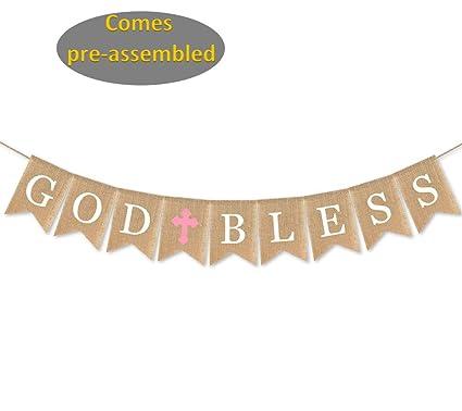 Amazon Com God Bless Baptism Banner Christening Church
