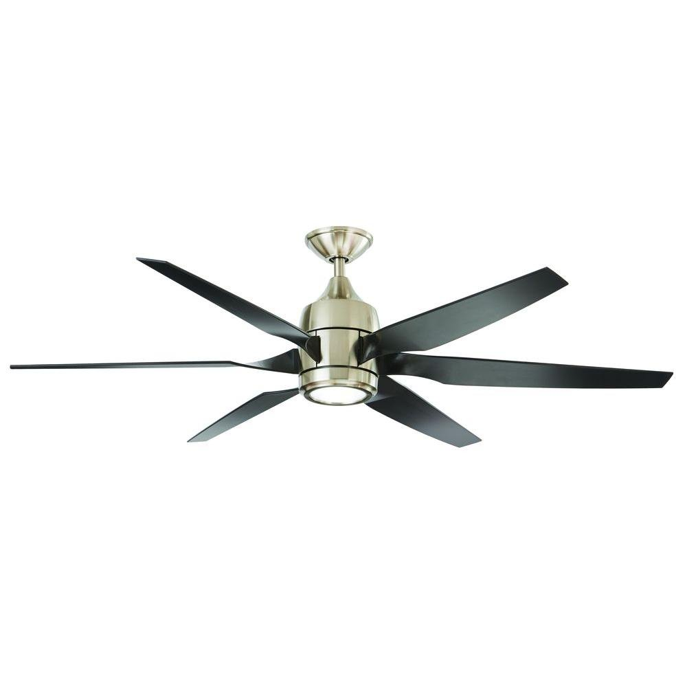 Home Decorators Collection Kelbra 60 in. LED Indoor Brushed Nickel Ceiling Fan WIth Remote by Home Decorators Collection (Image #1)