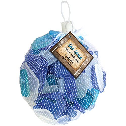 Gathered, by BCI Crafts GGLSBWC-10 Decorative Sea Glass, Blue & White -