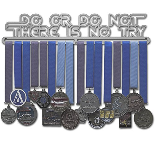 Allied Medal Hanger - Do Or Do Not, There Is No Try (18 wide with 1 hang bar)