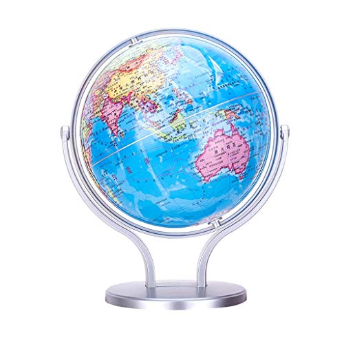 ZWS Knowledge HD Globe Student World Map Instrument Ball Teaching Version Rewritable Decoration Home Furnishings Special Hall Children Global (Size : 20.3cm)