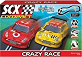 SCX Compact 1:43 Scale Slot Car Race track set, Crazy Race DTM's