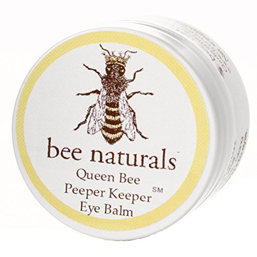 Queen Bee Naturals Best Eye Balm Peeper Keeper - Eyelid Cream Reduces Crows Feet, Wrinkles & Fine Lines - Moisturizes Your Skin - Vitamin E + 10 All Natural Nutrient Oils - 0.8 Oz