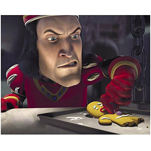 John Lithgow 8 inch x10 inch Photo Shrek Interstellar 3rd Rock from the Sun as Lord Farquaad Intimidating Gingerbread Man kn -