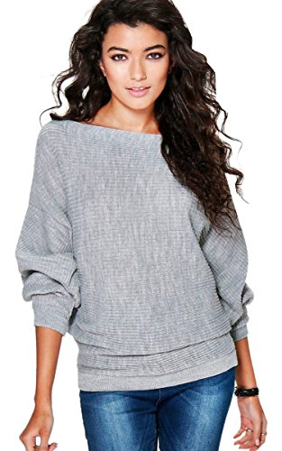 ECOWISH Women Off the Shoulder Sweater Oversized Shirt Pullover Sweatshirt Tunic Tops