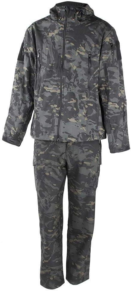 Traje de Camuflaje Conjunto de Camisa y Pantalón de Camuflaje para Hombre Pantalones para Deportes Al Aire Libre(XL): Amazon.es: Deportes y aire libre