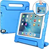 COOPER DYNAMO Kids case compatible with iPad Pro 9.7, iPad Air 2 | Shock Proof Heavy Duty Kidproof Cover for Kids | Girls Boys | Handle & Stand, Screen Protector | Apple A1673 A1674 A1566 A1567 (Blue)