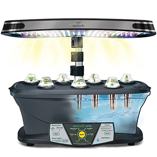 Miracle-Gro AeroGarden Extra LED Indoor Garden with Gourmet Herb Seed Kit and Bonus Cherry Tomato Seed Pod Kit by AeroGrow