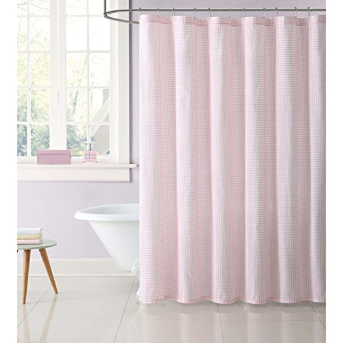 Gingham Shower Curtains - Truly Soft SC2331PK-6200 Everyday Printed Gingham Shower Curtain, 72