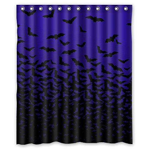 ZHANZZK Halloween Thousands of Bats Waterproof Bathroom Shower Curtain 60x72 Inches (Lovely Lattice Shower Curtain)