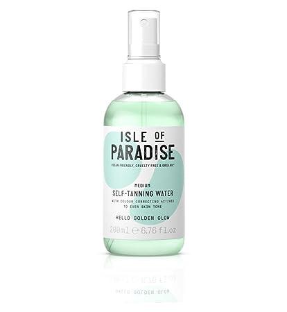 Isle of Paradise - Agua de auto bronceado, tamaño mediano, 200 ml ...