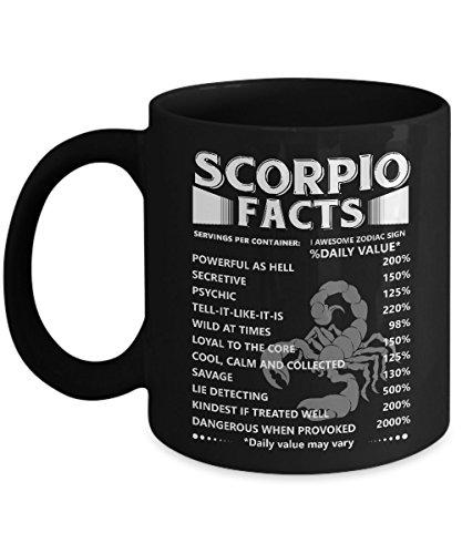 Zodiac Funny Gift. Scorpio Facts Funny Mug For Men/Women (Zodiac Scorpio Mug)