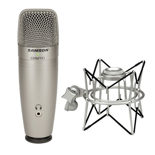 Samson C01U PRO USB Studio Condenser Microphone - Bundle With Samson SASP01 Shock Mount for Condenser Microphones (Studio C01 Samson)