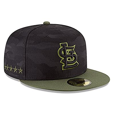 New Era St.Louis Cardinals 2018 Memorial Day On-Field 59FIFTY Fitted Hat – Black/Olive