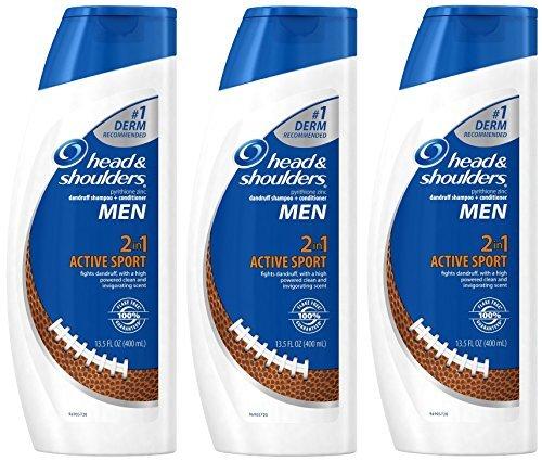 Head & Shoulders For Men - Active Sport - 2 in 1 Dandruff Shampoo Plus Conditioner - Net Wt. 13.5 FL OZ (400 mL) Each - by Head & Shoulders