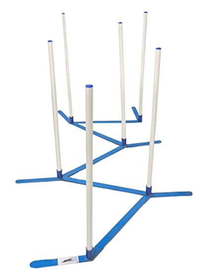 Amazon.com : Agility Weave Poles Adjustable 6 Pole Set with Carrying ...